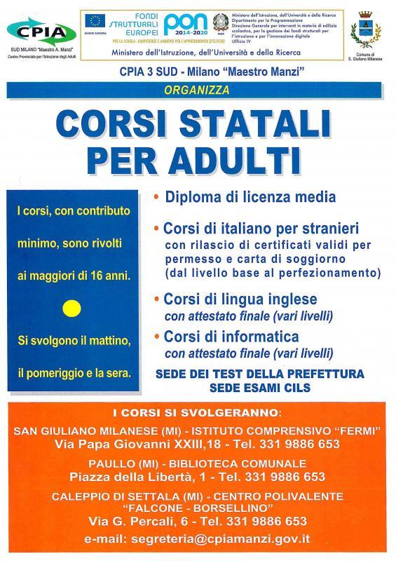 Citta 39 di paullo licenza media e italiano per stranieri for Test per stranieri carta di soggiorno