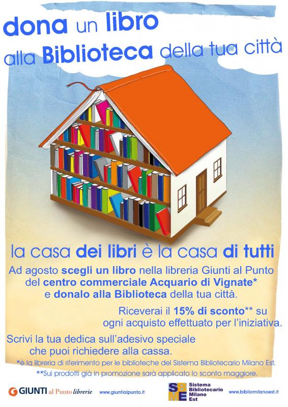Citta 39 di paullo dona un libro alla biblioteca della tua for Acquario vignate